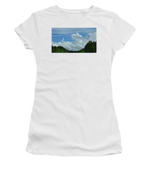 Natural Clouds Women's T-Shirt (Athletic Fit)
