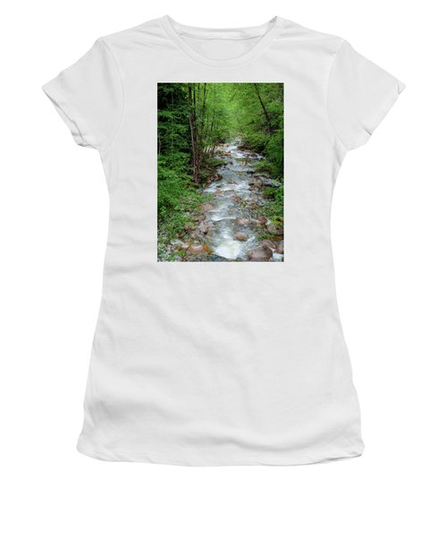 Naturally Pure Stream Backroad Discovery Women's T-Shirt
