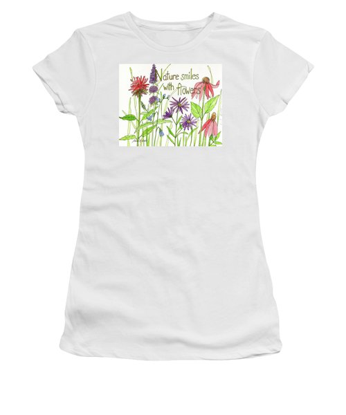 Nature Smile With Flowers Women's T-Shirt
