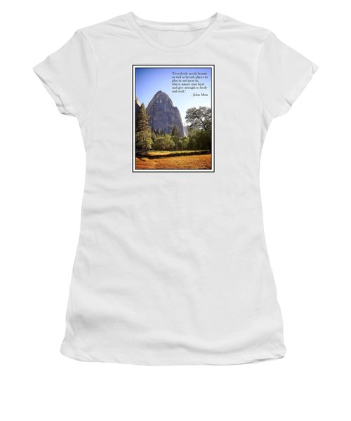 Natures Cathedral Women's T-Shirt (Athletic Fit)