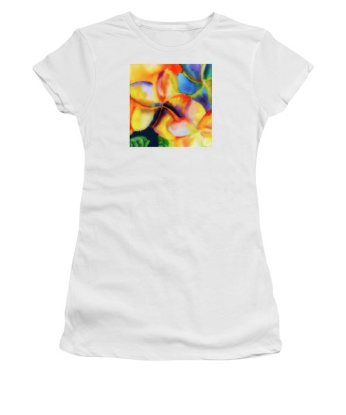 Women's T-Shirt (Junior Cut) featuring the painting Nature's Pinwheels by Stephen Anderson