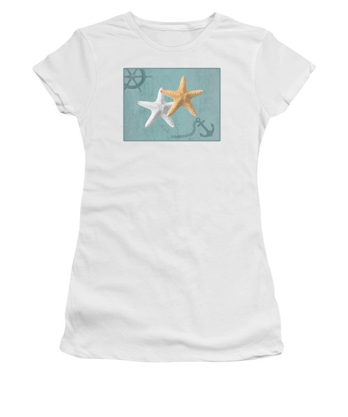 Nautical Stars Women's T-Shirt (Athletic Fit)