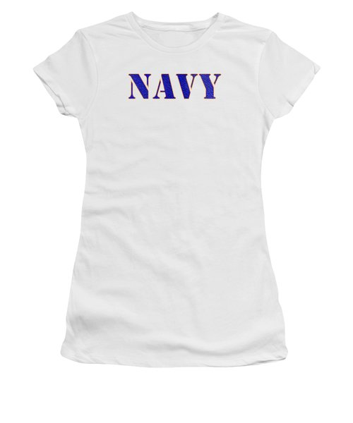 Navy Women's T-Shirt (Athletic Fit)
