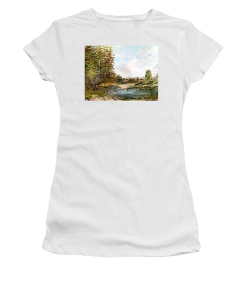 Near The Pond Women's T-Shirt (Athletic Fit)