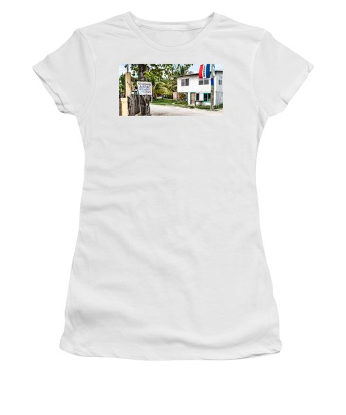 Women's T-Shirt (Junior Cut) featuring the photograph Neglected In Paradise by Lawrence Burry