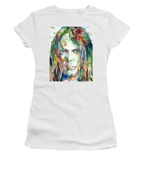 Neil Young Portrait Women's T-Shirt (Athletic Fit)