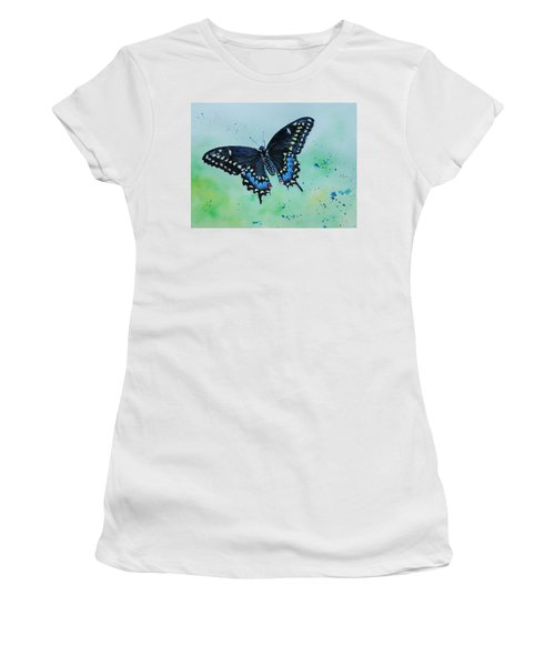 Neon Swallowtail Women's T-Shirt (Athletic Fit)