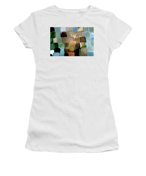 Neutrals In Light Abstract Women's T-Shirt (Junior Cut) by Haleh Mahbod