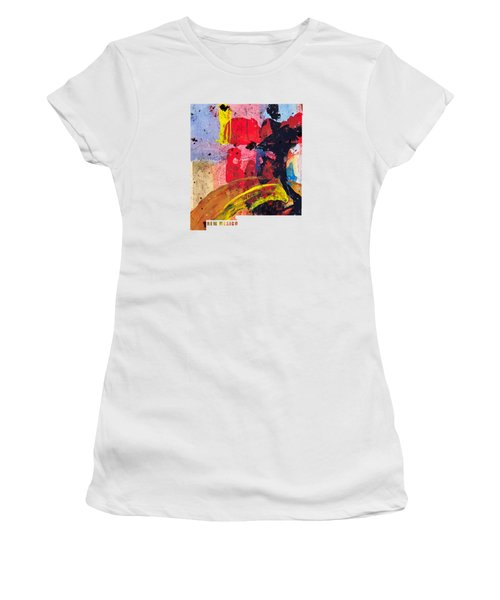 New Mexico Map Art - Painted Map Of New Mexico Women's T-Shirt