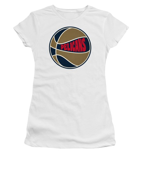 Women's T-Shirt (Junior Cut) featuring the photograph New Orleans Pelicans Retro Shirt by Joe Hamilton