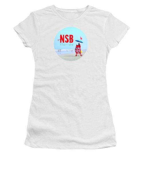 New Smyrna Beach T Shirt Women's T-Shirt (Junior Cut) by Valerie Reeves