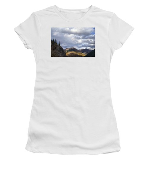Peeking At The Peaks Women's T-Shirt