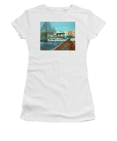 Triangle Park In Winter Women's T-Shirt (Athletic Fit)