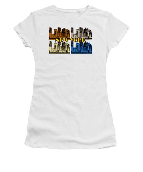 New York 4 Color Women's T-Shirt