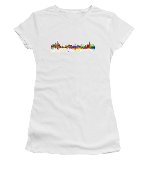 New York And London Skyline Mashup Women's T-Shirt
