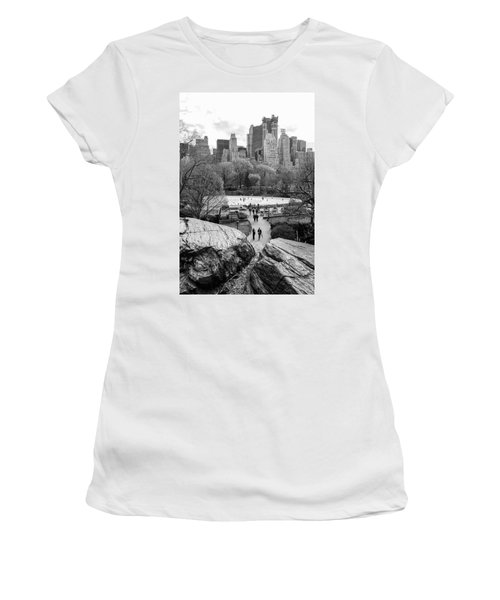 New York City Central Park Ice Skating Women's T-Shirt