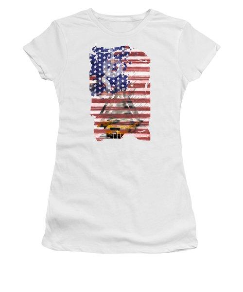 New York City Geometric Mix No. 8 Women's T-Shirt (Junior Cut) by Melanie Viola