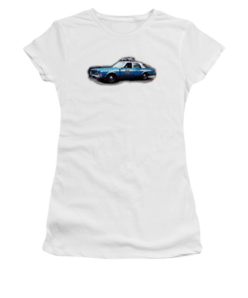 New York City Police Patrol Car 1980s Women's T-Shirt (Junior Cut) by Tom Conway