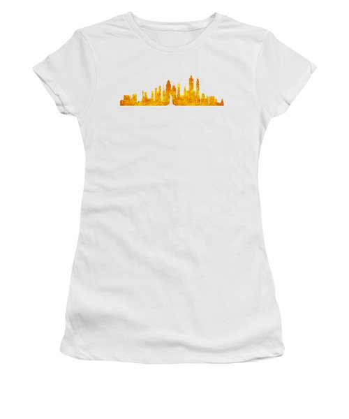 New York, Golden City Women's T-Shirt (Junior Cut) by Anton Kalinichev