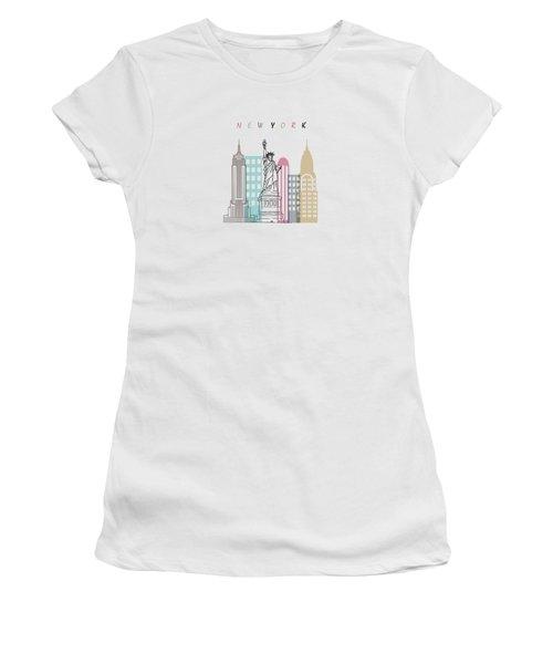 New York  Minimal  Women's T-Shirt (Junior Cut) by Mark Ashkenazi