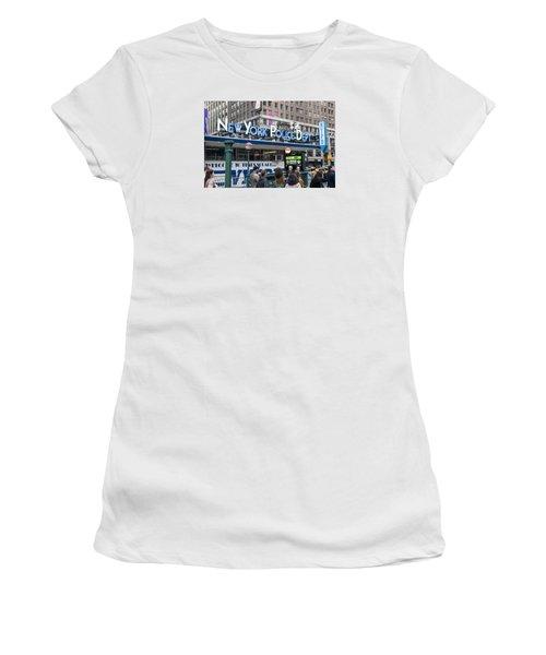 Women's T-Shirt (Junior Cut) featuring the photograph New York's Finest by Allen Carroll