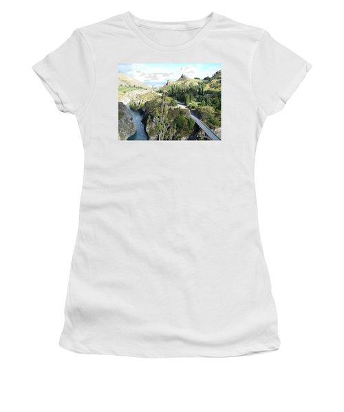 New Zealand Scene Women's T-Shirt (Junior Cut) by Constance DRESCHER