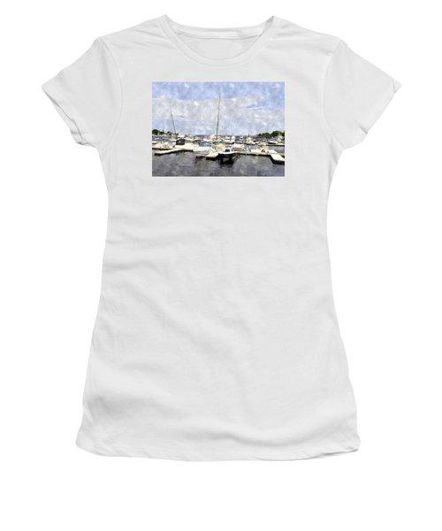 Newburyport Harbor Nhwc Women's T-Shirt (Athletic Fit)