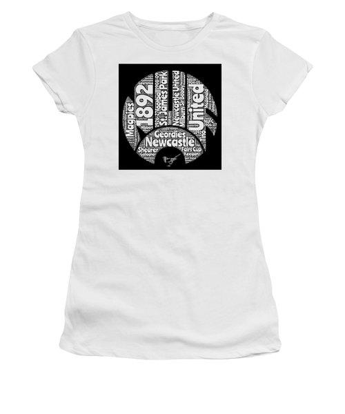 Newcastle United Football Club Word Art Women's T-Shirt