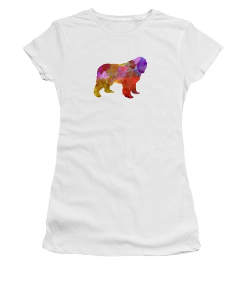 Newfoundland In Watercolor Women's T-Shirt