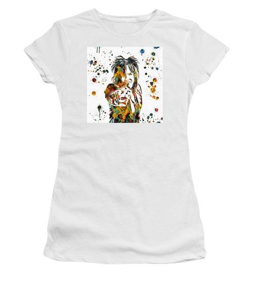 Nikki Sixx Paint Splatter Women's T-Shirt