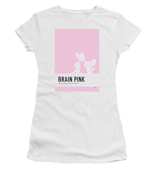 No01 My Minimal Color Code Poster Pinky And The Brain Women's T-Shirt (Athletic Fit)
