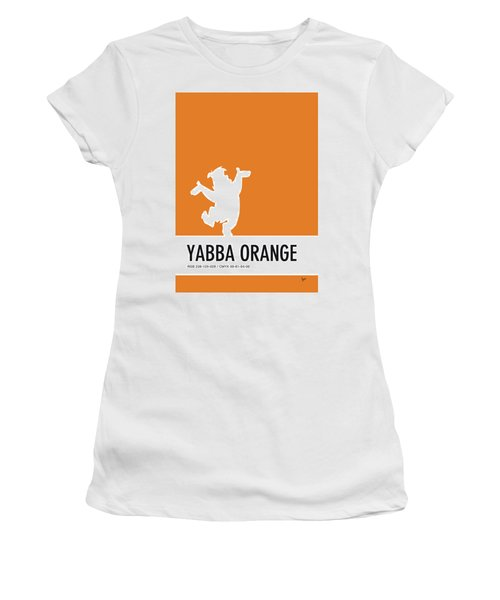 No04 My Minimal Color Code Poster Fred Flintstone Women's T-Shirt (Athletic Fit)