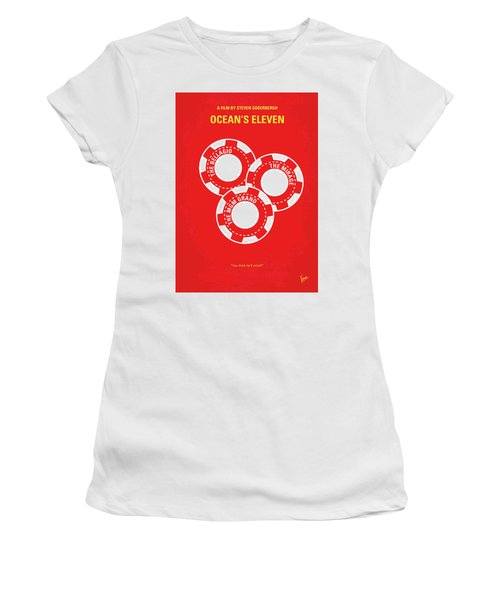 No056 My Oceans 11 Minimal Movie Poster Women's T-Shirt (Junior Cut) by Chungkong Art