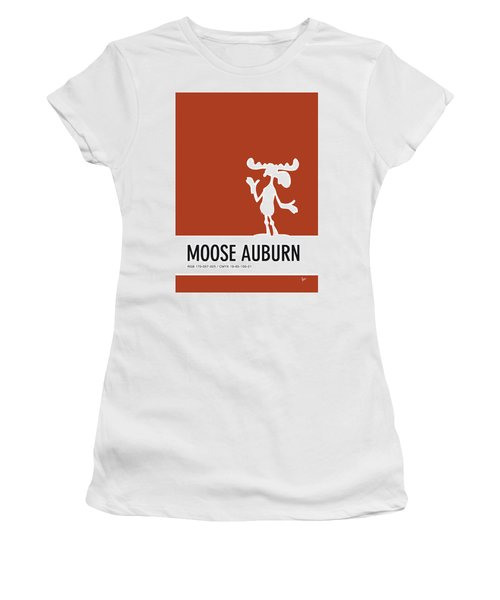 No19 My Minimal Color Code Poster Bullwinkle Women's T-Shirt (Athletic Fit)