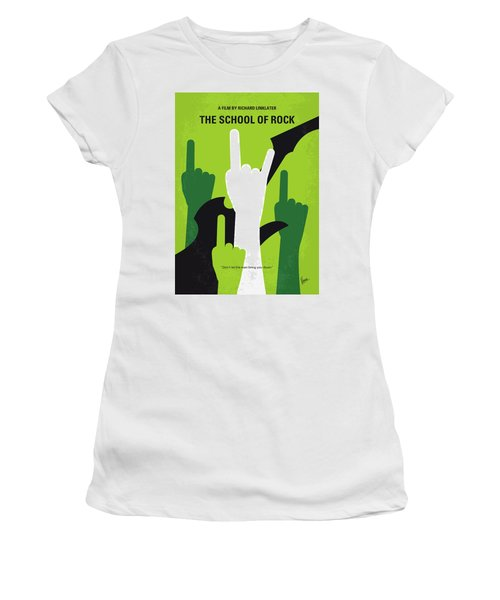 No668 My The School Of Rock Minimal Movie Poster Women's T-Shirt