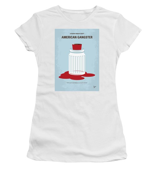 Women's T-Shirt (Junior Cut) featuring the digital art No748 My American Gangster Minimal Movie Poster by Chungkong Art