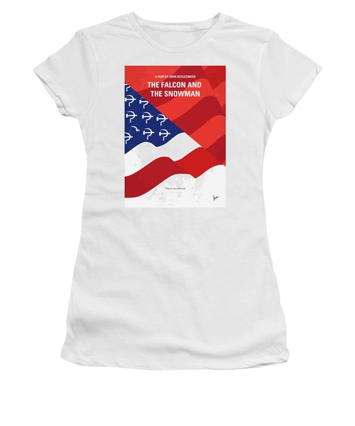 Women's T-Shirt (Junior Cut) featuring the digital art No749 My The Falcon And The Snowman Minimal Movie Poster by Chungkong Art