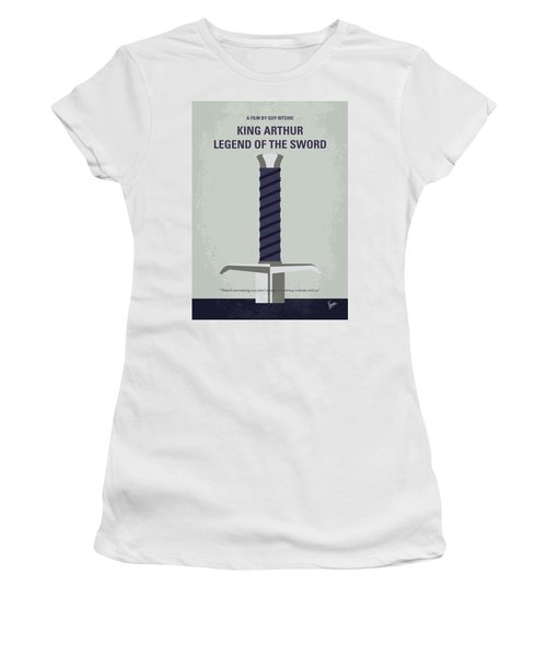 Women's T-Shirt (Junior Cut) featuring the digital art No751 My King Arthur Legend Of The Sword Minimal Movie Poster by Chungkong Art