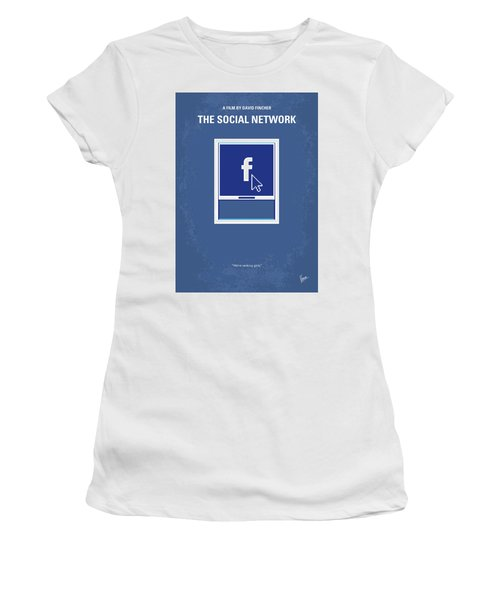 No779 My The Social Network Minimal Movie Poster Women's T-Shirt (Athletic Fit)