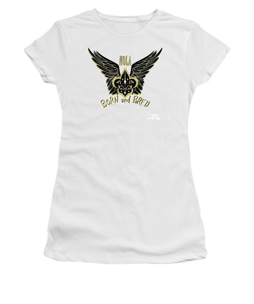 Women's T-Shirt (Junior Cut) featuring the painting Nola by Tbone Oliver