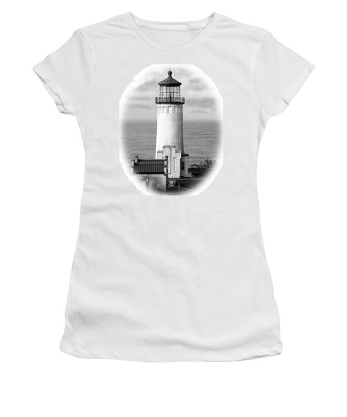 North Head Lighthouse Black And White Photograph Women's T-Shirt (Athletic Fit)