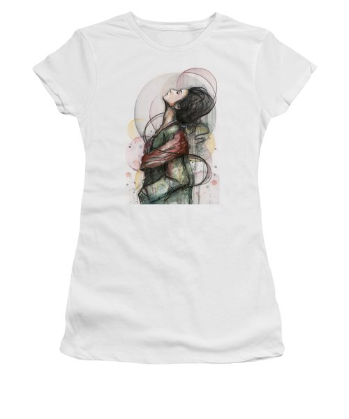 Beautiful Lady Women's T-Shirt (Athletic Fit)