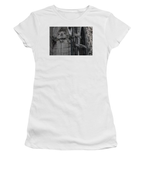 North Side Notre Dame Cathedral Women's T-Shirt (Junior Cut) by Christopher Kirby