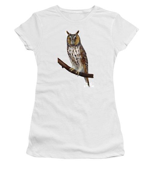 Northern Long-eared Owl Asio Otus - Hibou Moyen-duc - Buho Chico - Hornuggla - Nationalpark Eifel Women's T-Shirt