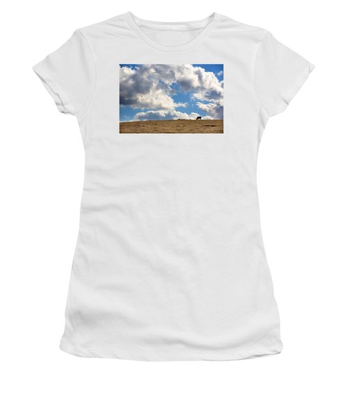Not A Cow In The Sky Women's T-Shirt (Athletic Fit)