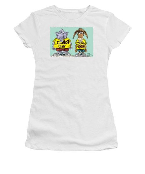Not Gay Women's T-Shirt