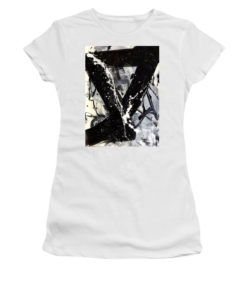 Not Just Black And White Women's T-Shirt (Athletic Fit)
