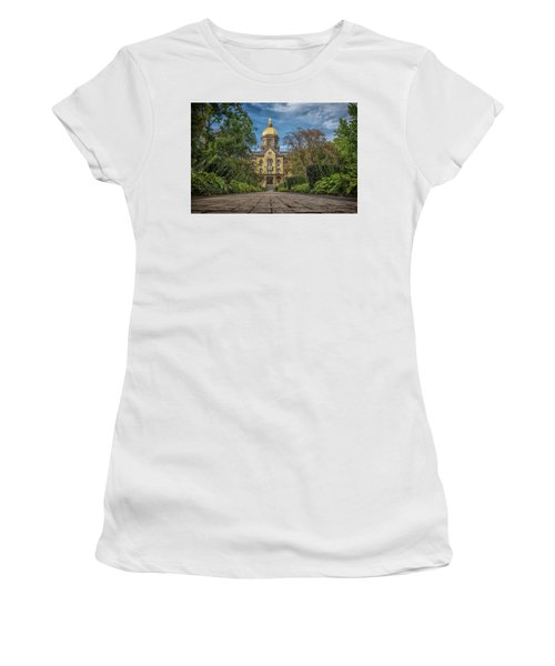 Notre Dame University Q1 Women's T-Shirt (Junior Cut) by David Haskett
