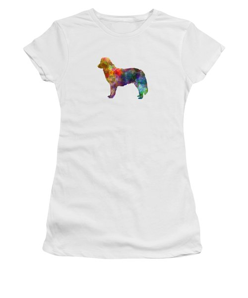 Nova Scotia Duck Tolling Retriever In Watercolor Women's T-Shirt (Junior Cut) by Pablo Romero