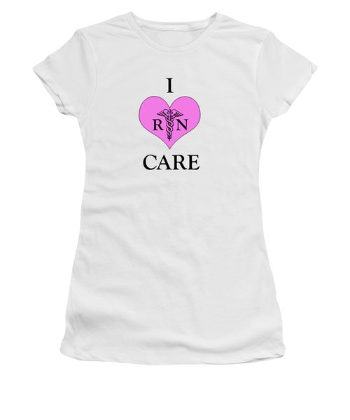 Nursing I Care -  Pink Women's T-Shirt (Athletic Fit)